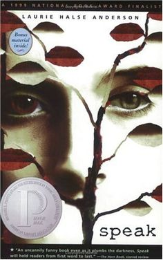 Speak by Laurie Halse Anderson. A novel about art, the aftermath of rape, and the trials of being a teenager. Witty, rich description, and engaging.