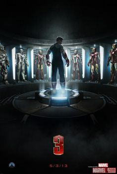 Iron Man 3 teaser poster. In theatres May 2013. Can't wait for this movie!