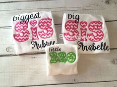 Big Sister or Big Brother T-Shirt or Bodysuit - Baby Announcement Shirts - Big Sister Shirt - Big Brother Shirt - Coming Home from hospital outfits - by OurLilBowtique