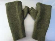 A01 military green cashmere fingerless by mcleodhandcraftgifts