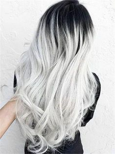 Hair videos, ash ombre, silver ombre hair, grey ombre hair, slicked back Pastel Ombre, White Ombre Hair, Silver Ombre Hair, Gray Ombre, Ash Ombre, Silver Blonde, Ash Grey, Pastel Blue, Black To Silver Ombre