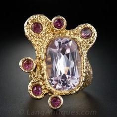 1960s Kunzite & Pink Tourmaline Ring