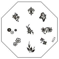 Flirt nail art stamping kit 32370 by fingrs 799 beauty stamping nail art image plate m24 580 prinsesfo Gallery