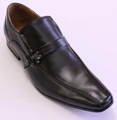 MEN'S BLACK SHOES SLIP-ON
