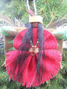 Large Native American / Indian Christmas Angel Ornament one-of-a-kind ...