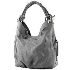 modamoda de - ital. Handtasche Damentasche Schultertasche Ledertasche Tasche Nappaleder Z18, Präzise Farbe:Dunkelgrau - http://herrentaschenkaufen.de/modamoda-de-made-in-italy/dunkelgrau-modamoda-de-ital-handtasche-tasche-2