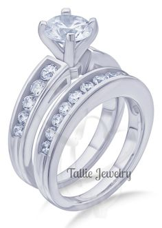 Carats Diamond Engagement Rings Bridal Gold Wedding Bands Womens Matching By Talliejewelry On Etsy