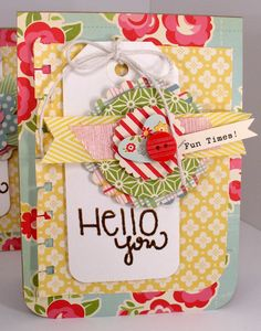 Handmade Creations by Stephanie: Sweet Stamp Shop release! Cute Cards, Diy Cards, Your Cards, Scrapbook Paper Crafts, Scrapbook Cards, Scrapbooking, Sweet Stamp Shop, Friend Crafts, Card Tags