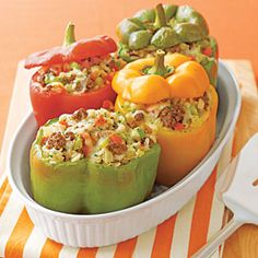 #8~ to this day I still follow my moms stuffed peppers recipe. They are so delicious and the bring me back to home!