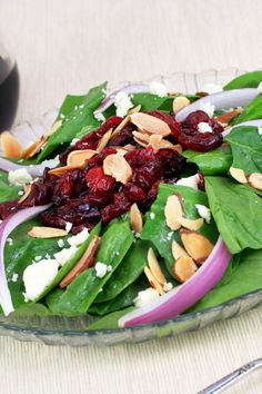 Jamie's Cranberry Spinach Salad More