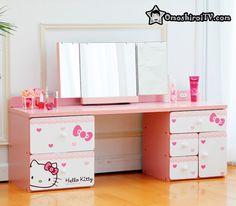 Hello Kitty Stuff - OmoshiroiTV Like this. Hello Kitty Bedroom, Hello Kitty House, Here Kitty Kitty, Wonderful Day, Teen Girl Bedrooms, Little Twin Stars, Dream Bedroom, Baby Bedroom, Sanrio