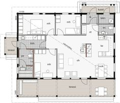 Small House Plans, Future House, Floor Plans, Exterior, Flooring, Bungalows, How To Plan, Layouts, House Ideas