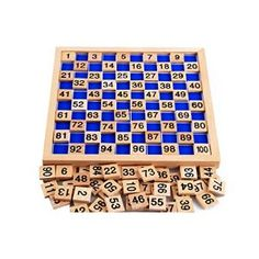 Amazon.com: Zerowin Wooden Toys Hundred Board Montessori 1-100 Consecutive Numbers Wooden Educational Game for Kids with Storage Bag: Toys & Games