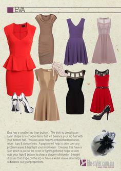 980f2bf6a7813 Eva Body Shape - Pear body shape More Pear Shaped Outfits ...