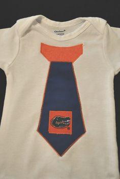 UF Unversity Florida Gators football Tie Baby by twochixremix, $14.99