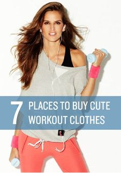 Find cute and affordable workout clothes at these 7 places. I buy all my work out clothes at Gap and Target! 7 Workout, Workout Attire, Workout Wear, Workout Outfits, Affordable Workout Clothes, Workout Clothes Cheap, Workout Clothing, Exercise Fitness, Fitness Tips