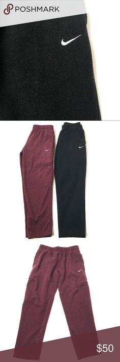 """2 Pairs of Nike Sweatpants Men's Size Medium 2 Pairs of Nike Sweatpants - Maroon & Black   Mens Size Medium - Excellent pre-owned condition  Inseam: 30""""  Waist measured flat: 15"""" Nike Pants Sweatpants & Joggers"""