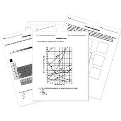 FREE chemistry worksheets for elementary, middle, and high school. Includes full-page printable periodic table and blank periodic table to accompany worksheets and assessments.