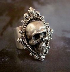 I found 'Skull Ring, Human, Gothic, Metal Bonded NOT Glued, QUALITY RING, Sterling Silver Plate, Comfortable Ring Band' on Wish, check it out!