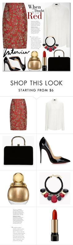 """""""Untitled #1529"""" by elena-777s ❤ liked on Polyvore featuring Prada, Boohoo, Christian Louboutin, Christian Dior, Chico's, Lancôme and autumnwinter2016"""