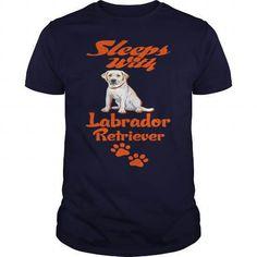 sleeps with labrador retriever T-Shirts & Hoodies