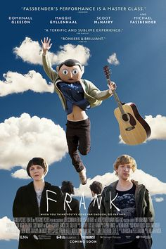 Frank is a 2014 comedy-drama film directed by Lenny Abrahamson and starring Domhnall Gleeson, Maggie Gyllenhaal, Scoot McNairy and Michael Fassbender as the title character. The film premiered at the 2014 Sundance Film Festival. Frank Film, Frank Movie, Michael Fassbender, Maggie Gyllenhaal, Love Film, Love Movie, Great Films, Good Movies, Film Movie