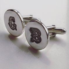 Handmade silver cufflinks - Lucy Locket's Personalised Jewellery