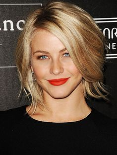 It's the haircut that launched a thousand snips! Over the summer, Julianne Hough hacked her long blond waves into a chin-skimming bob - oct 2012 (Did this in Nov but with a bit more length. Considering going shorter next time.)