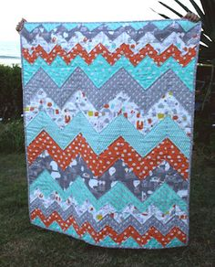 Chasing Cottons Monsterz Chevron quilt