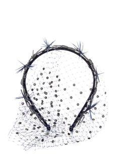 Gigi Burris Millinery Gemini Violette veil headband