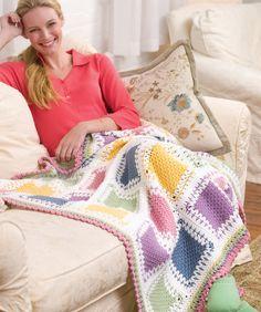 Tunisian Color Block Throw by Glenda Winkleman - free pattern