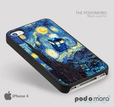Starry Night Tardis for iPhone 4/4S, iPhone 5/5S, iPhone 5c, iPhone 6, iPhone 6 Plus, iPod 4, iPod 5, Samsung Galaxy S3, Galaxy S4, Galaxy S5, Galaxy S6, Samsung Galaxy Note 3, Galaxy Note 4, Phone Case
