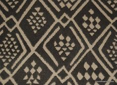Clarence House Himba Brown Tapestry Reversible Italy Diamond Tribal African Art Cotton Fabric Heavy Upholstery Fabric Home Dec Fabric CH304