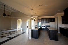 2 islands- open floor plan.  I like....