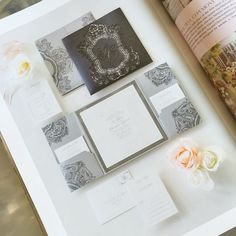 We're beyond thrilled to see our #custom #letterpress and #lasercut #invitation #design we created specially for Iva & Chris in the newest issue of @wedluxe! It also included a hand illustration with #monogram inspired by the Hall of Mirrors & #pocketfold housing! Their #wedding this past Spring at the Four Seasons was a stunner & the couple was truly one of our favourites of 2015! Check out all of the eye candy from the big day in the #magazine! Photo by @ikonicaimages & fabulous vendor…