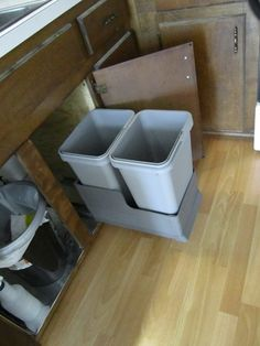 1000 Images About Under The Sink Trash Can On Pinterest