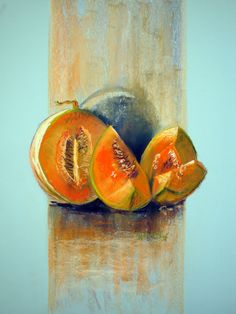 Melons dry pastel 60 x 50 cm Marie-France OOSTERHOF