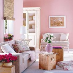 Pink living room..
