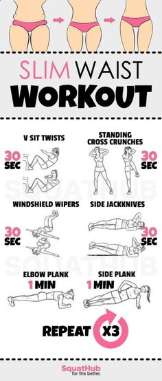 Slim Waist Workout That Gives You A Hourglass Figure