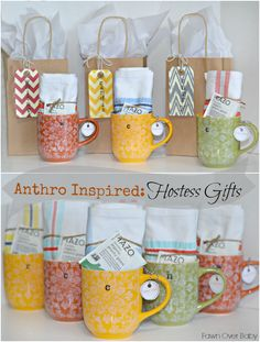 DIY: Anthro-Inspired Baby Shower Hostess Gifts /Fawn Over Baby (Diy Birthday Baskets) Baby Shower Hostess Gifts, Baby Shower Prizes, Wedding Shower Prizes, Shower Favors, Bridal Shower Games Prizes, Baby Shower Game Gifts, Party Prizes, Baby Shower Gift Basket, Easy Gifts