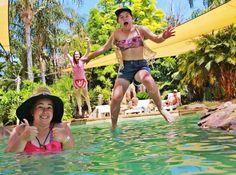 Bikini Swimming  Fun Resort Water  Jumping  Tanning