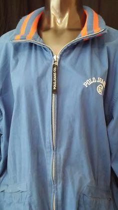 Ralph Lauren Polo Jeans Co 67 vtg mens varsity jacket blue orange embroidered XL #PoloJeansCo #Varsity #sale #jacket #ebay #ebayseller #vintage