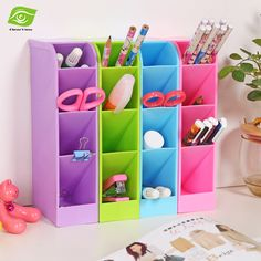 1PC Multifunctional Socks/Underwear Organizer Stationery/Tableware Plastic Storage Box Cosmetics Makeup Organizer Box