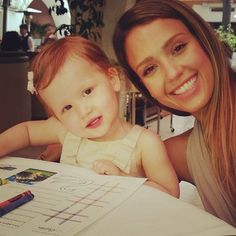 See How Stars Celebrated Mothers Day!: Jessica Alba colored with her daughter Haven during Mothers Day brunch. Source: Instagram user jessicaalba