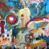 Abstract Artist Jan Corcoran