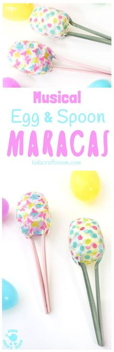 EASY AND FUN EASTER EGG MARACAS - Kids will love learning how to make egg shakers and making their own music! It's a simple Spring craft for all ages and a great way to encourage listening skills, music and movement! #kidscraftroom #easter #eastercrafts #maracas #kidscrafts #springcrafts #springactivities BC Easter Activities, Spring Activities, Activities For Kids, September Activities, Music Activities, Preschool Ideas, Preschool Crafts, Snail Craft, How To Make Eggs
