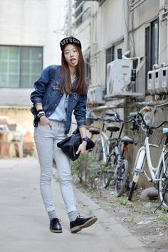 Streetstyle: Sora Choi shot by Choi Seungjum | #k-fashion #kfashion #korean #fashion #korea |