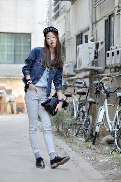 Streetstyle: Sora Choi shot by Choi Seungjum | #k-fashion #kfashion #korean #fashion #korea |