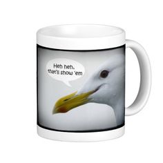 Humorous Friendly Seagull? NOT! Mug from Florals by Fred #zazzle #gift