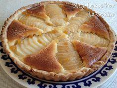 Twittear      Esta tarta otoñal está formada por una base de masa quebrada crujiente, un relleno de crema de almendras y per...